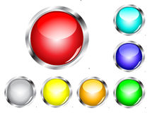 Glossy Web Button Set Royalty Free Stock Photos