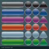 Glossy web button set. Royalty Free Stock Images