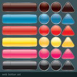 Glossy web button set. Stock Images