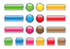 Glossy web buttons. Collection of glossy web buttons Stock Photography