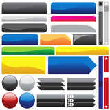 Glossy Web Buttons. Vector collection of glossy web buttons Stock Photography