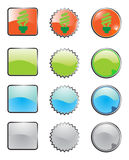 Glossy Web Buttons Stock Image