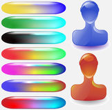 Glossy Web Buttons Royalty Free Stock Photo