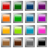 Glossy web buttons Royalty Free Stock Image