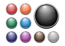 Glossy web buttons. Built with transparency overlay for easy one layer change color vector illustration