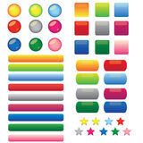 Glossy Web Buttons. This is a set of  blank web color buttons Stock Images
