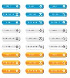 Glossy web buttons. Set of website modern glossy buttons Stock Photo