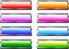 Glossy Web Buttons. A Colourful Set of Glossy Web Buttons royalty free illustration