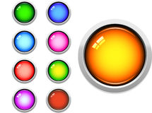Glossy Web Buttons. A Colourful Selection of Glossy Web Buttons royalty free illustration
