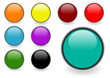 Glossy web buttons Royalty Free Stock Photos