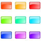 Glossy web buttons Royalty Free Stock Images