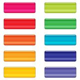 Glossy web buttons in bright colors Stock Photos