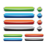 Glossy web buttons collection. Stock Image