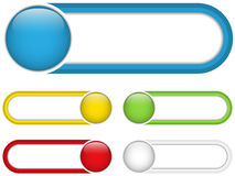 Glossy web buttons with colored bars. Royalty Free Stock Photography