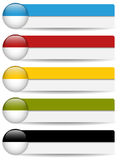 Glossy web buttons with colored bars. Stock Photo