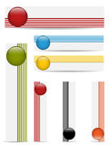 Glossy web buttons with colored bars. Stock Photos