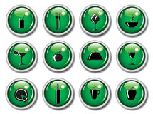 Glossy web buttons - food icons. An illustration of a set of food icons on glossy web buttons. Available as a  or .jpg Royalty Free Stock Image