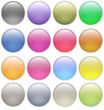 Glossy web buttons icons. Isolated on white Stock Photography