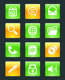 Glossy web buttons icons. Colour Stock Images