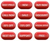 Glossy web buttons set Stock Photo