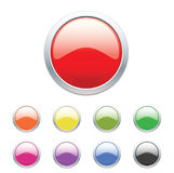 Glossy web buttons set Royalty Free Stock Photo