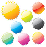 Glossy web elements. Royalty Free Stock Photography