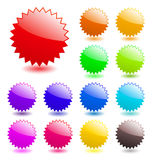 Glossy web elements. Royalty Free Stock Images