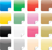 Glossy Web Elements Stickers Stock Image