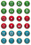 Glossy web icon set. Glossy icon set for web design Stock Image