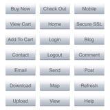 Glossy Web Icon Set stock illustration