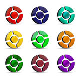 Glossy web icons. Set of nine colored glossy web icons - file added royalty free illustration