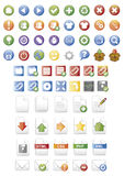 Glossy web icons. For web applications and computer desktop Royalty Free Stock Photos