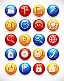 Glossy web icons Royalty Free Stock Image