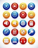 Glossy web icons royalty free illustration