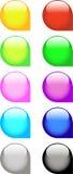Glossy Web Icons Stock Image