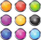 Glossy Web Icons Stock Image