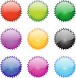 Glossy Web Icons Royalty Free Stock Photography