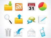 Glossy web icons set Royalty Free Stock Photo