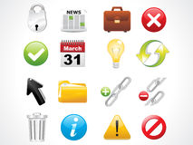 Glossy web icons set Royalty Free Stock Photography