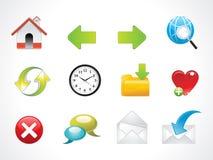 Glossy web icons set Stock Image