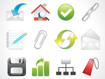 Glossy web icons set Royalty Free Stock Images