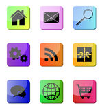 Glossy web site icons Royalty Free Stock Images