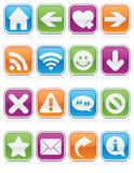Glossy Web Symbol Squares Royalty Free Stock Photos