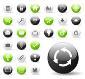Glossy Website or Application Icons Stock Photo