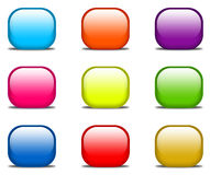 Glossy website buttons Royalty Free Stock Photography