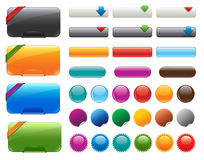 Glossy website buttons Royalty Free Stock Photo