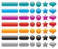 Glossy website buttons Royalty Free Stock Photos