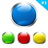Glossy Website Buttons, Part 1 Stock Photo