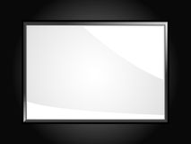 Glossy white black background Stock Photos