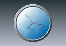 Glossy world clock Royalty Free Stock Images